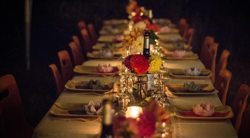 table de mariage décorée